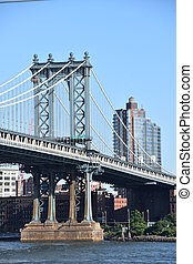 pont, manhattan, york, nouveau, ville