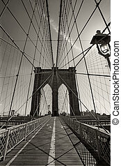 pont, ville, york, nouveau, brooklyn