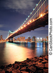 pont, york, ville, manhattan, nouveau