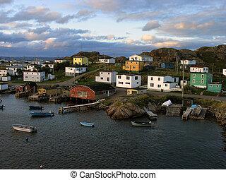port, village