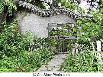 portail, parc, jardin