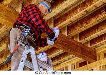 préparer, indivis canal transmission, construction, maison, nouveau, scellage, rénovation