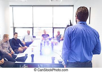 présentation entreprise, business, meeting.