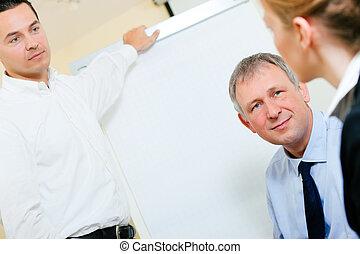 présentation, réunion, business