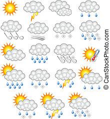 prévisions météorologiques, business, icône
