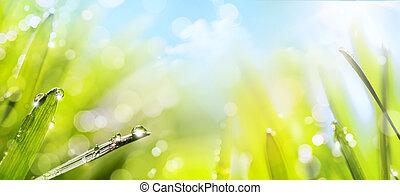 printemps, art abstrait, fond, nature