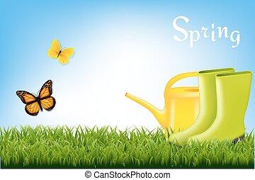 printemps, bannière