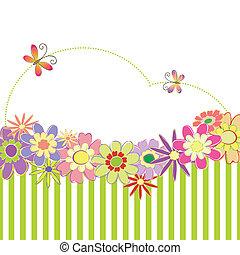 printemps, coloré, été, floral