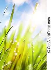 printemps, résumé, fond, nature