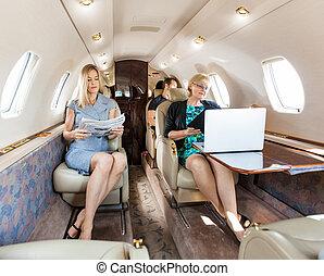 professionnel, affaires entreprise, jet