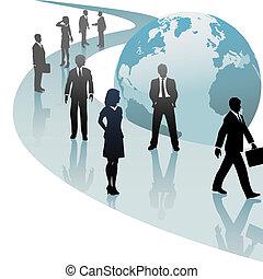 professionnels, avenir, progrès, mondiale, sentier