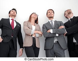 professionnels, grand, ensemble, groupe, réunion
