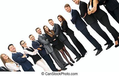 professionnels, -, jeune, séduisant, équipe, élite
