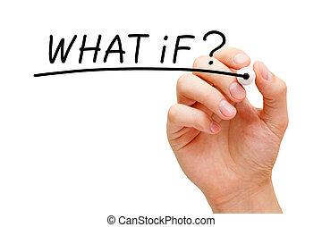 quel, question, noir, marqueur, si, manuscrit