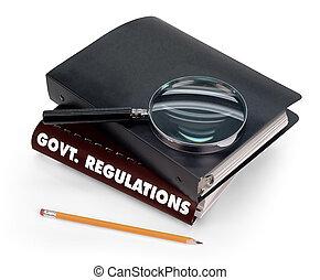 règlements, gouvernement