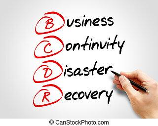récupération, -, bcdr, business, continuité, désastre