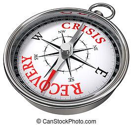 récupération, concept, vs, crise, compas