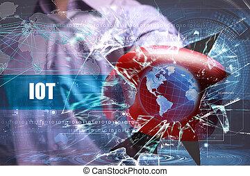 réseau, security., affaires internet, iot, technologie