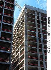 résidentiel, bâtiments, construction