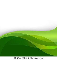 résumé, arrière-plan vert, nature