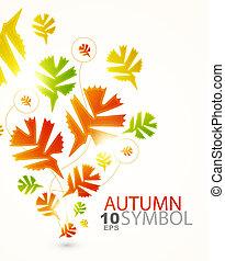 résumé, fond, automne