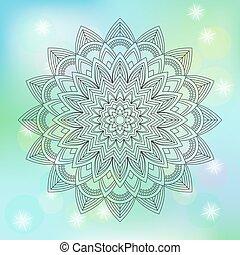 résumé, illustration, fond, vecteur, floral, mandala