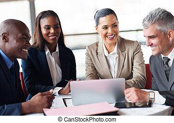 réunion, bureau affaires, gens