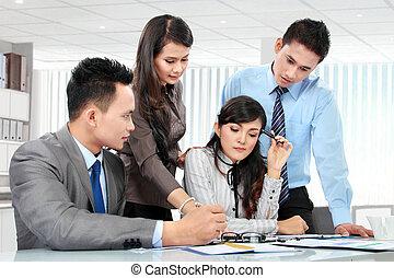réunion, business, ensemble