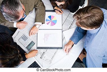 réunion, business, vue
