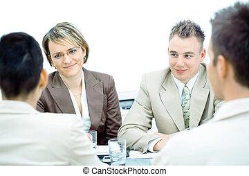 réunion, isolé, business