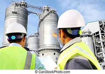 raffinerie, huile, essence, ingénieur