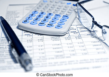 rapport, -, concept, financier, business