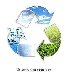 recycl, trois, élément, ing, symbole