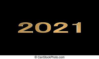 rendre, chic, 2021, heureux, année, 3d, fond, nouveau