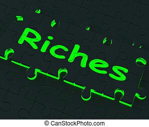 richesse, grand, puzzle, richesses, revenus, projection