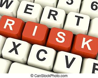 risque, péril, informatique, projection, clés, incertitude