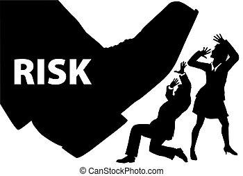 risque, professionnels, etape pied, uninsured