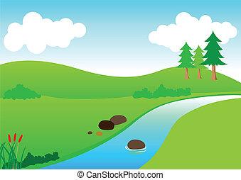rivière, vue