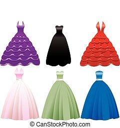robe, robe formelle, icônes