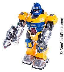 robot jouet, fond