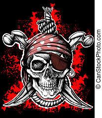 roger, symbole, pirate, gai