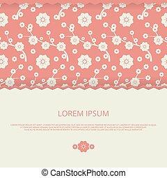 romantique, invitation, floral, vecteur, mariage, cartes, bannière, design.