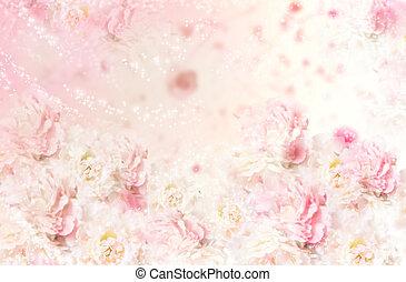 rose, art décoratif, roses, pattern., seamless, arrière-plan., floral, fleurs