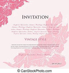 rose, floral, vecteur, conception, fond