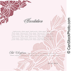 rose, floral, vecteur, fond, design.