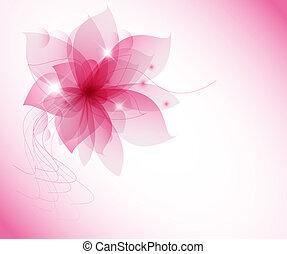 rose, vecteur, fleur