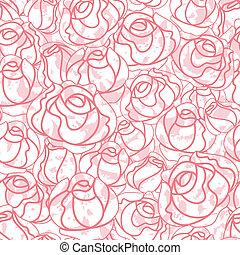 roses, seamless, toile de fond, modèle