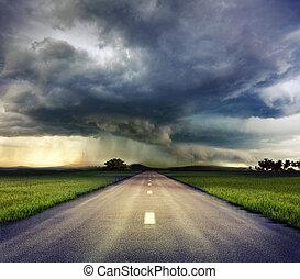 route, orage