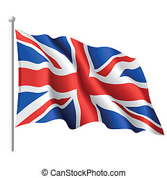 royaume, drapeau, uni