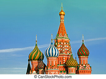 russia., basilic, moscow., cathédrale, rue